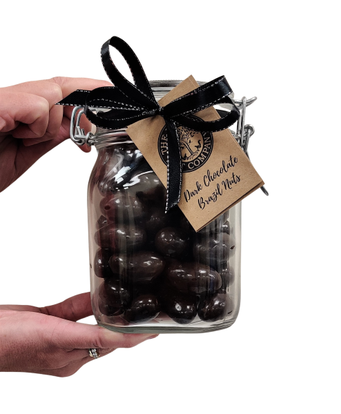 Large Gift Jar - Dark Chocolate Brazil Nuts - 800g
