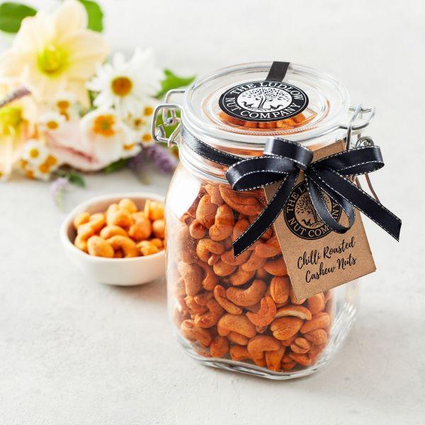 Large Gift Jar - Chilli Roasted Cashew Nuts - 600g