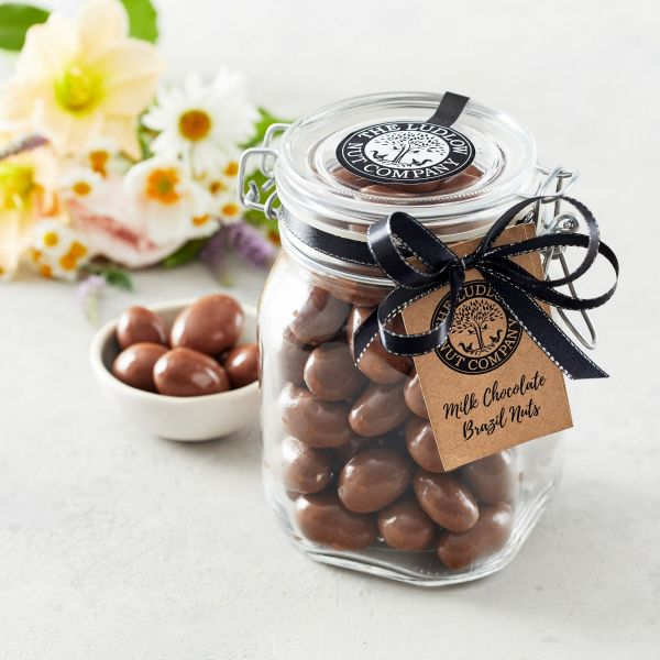 Large Gift Jar - Milk Chocolate Brazil Nuts - 800g