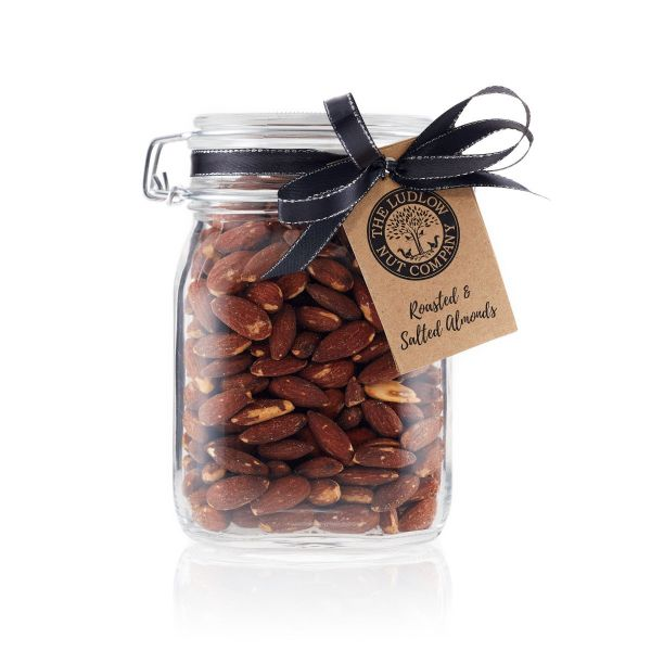 Large Gift Jar - Roasted & Salted Almonds - 600g